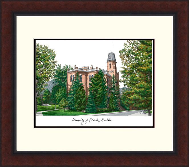 University of Colorado, Boulder Legacy Alumnus Framed Lithograph