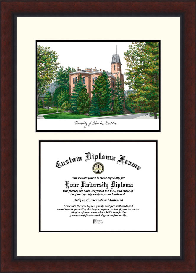 University of Colorado, Boulder  Legacy Scholar Diploma Frame
