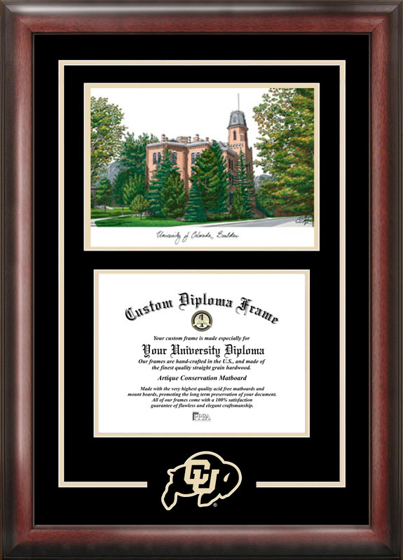 University of Colorado, Boulder Spirit  Graduate Frame with Campus Image