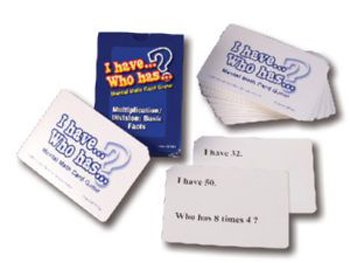 I Have Who Has Mental Math Card Games Multiply/div Basic Facts - CRU016