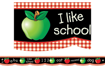 Border Apple Chalkboard 35  Scalloped - CTP0411 - CTP0411