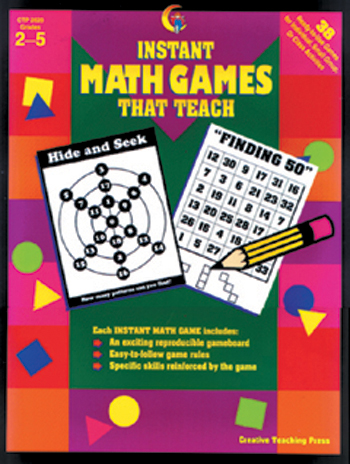 Instant Math Games That Teach Gr 2-5 - CTP2620
