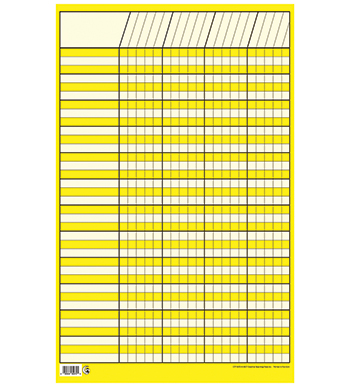 Chart Incentive Small Yellow 14 X 22 Vertical - CTP5072 - CTP5072