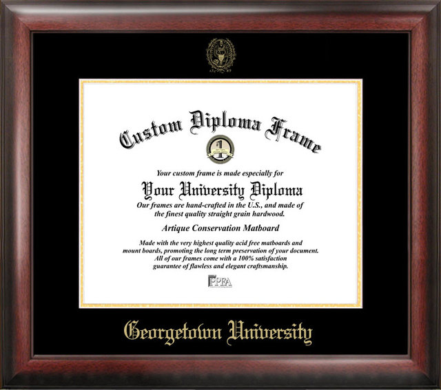 Georgetown University Gold Embossed Diploma Frame