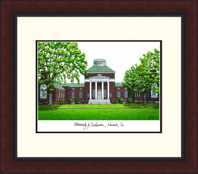 University of Delaware Legacy Alumnus Framed Lithograph