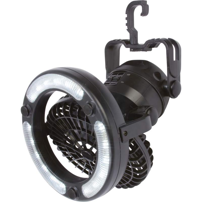 Mitaki-japan® 18-bulb Led Adjustable Camping Light With Fan - ELANTF18