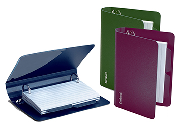 Oxford Poly Index Card Binder Assorted - ESS73569 - ESS73569