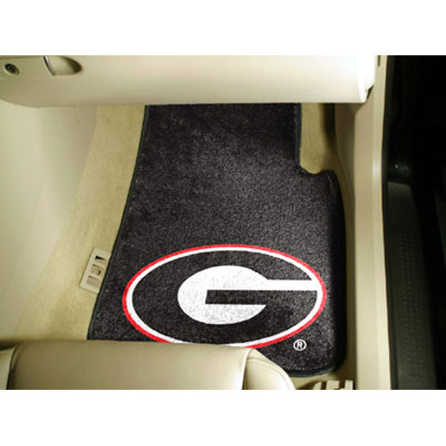 Georgia Bulldogs NCAA Car Floor Mats (2 Front) G Logo on Black