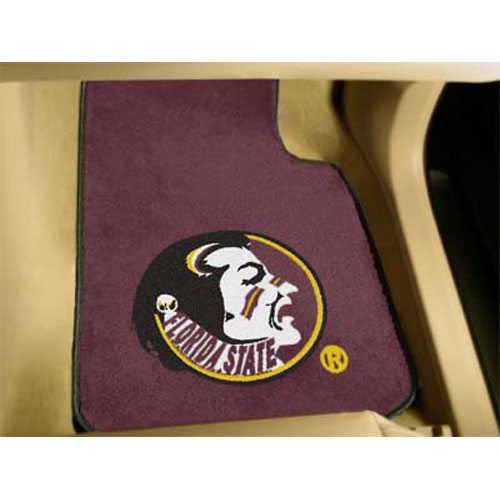Florida State Seminoles NCAA Car Floor Mats (2 Front) Seminole Logo on Burg
