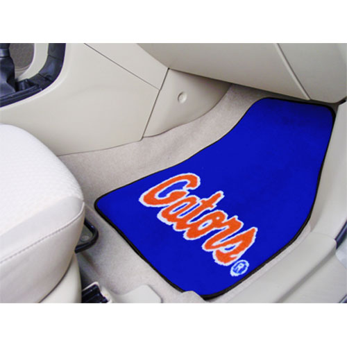 Florida Gators NCAA Car Floor Mats (2 Front) Gator Script