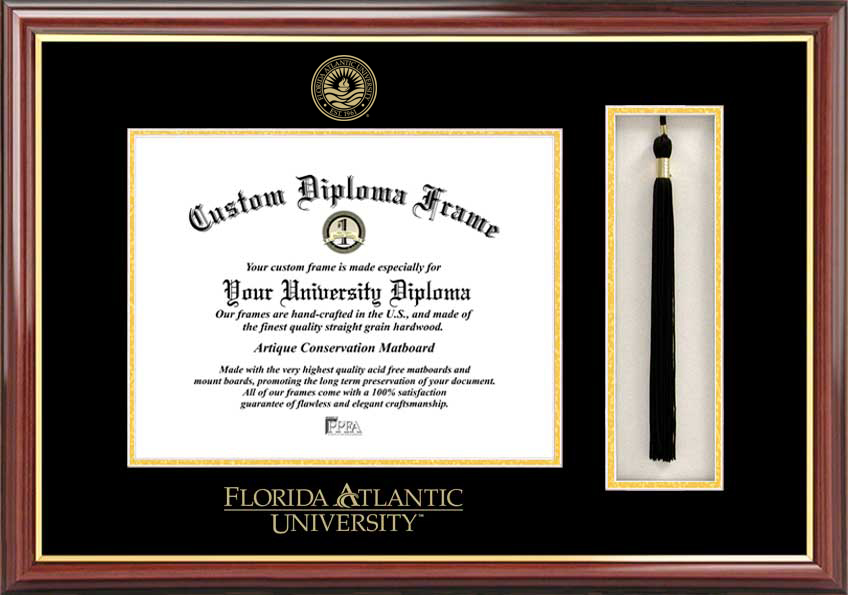 Florida Atlantic University  Tassel Box and Diploma Frame