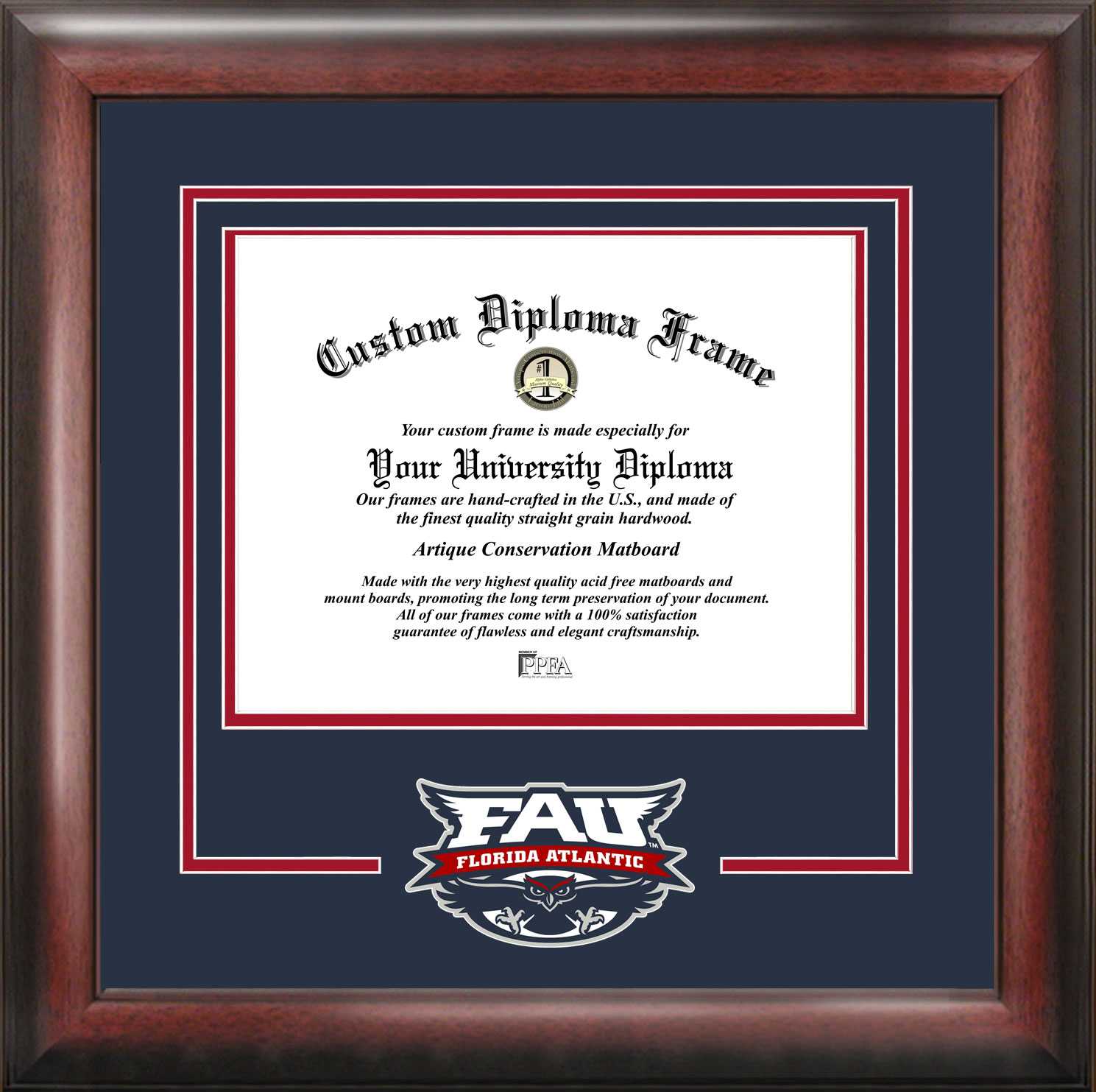 Florida Atlantic University Spirit Diploma Frame