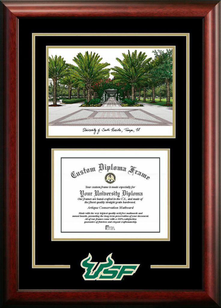 University of South Florida Spirit Graduate Frame with Campus Image