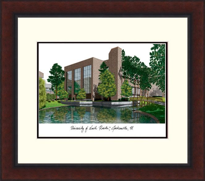 University of North Florida Legacy Alumnus Framed Lithograph
