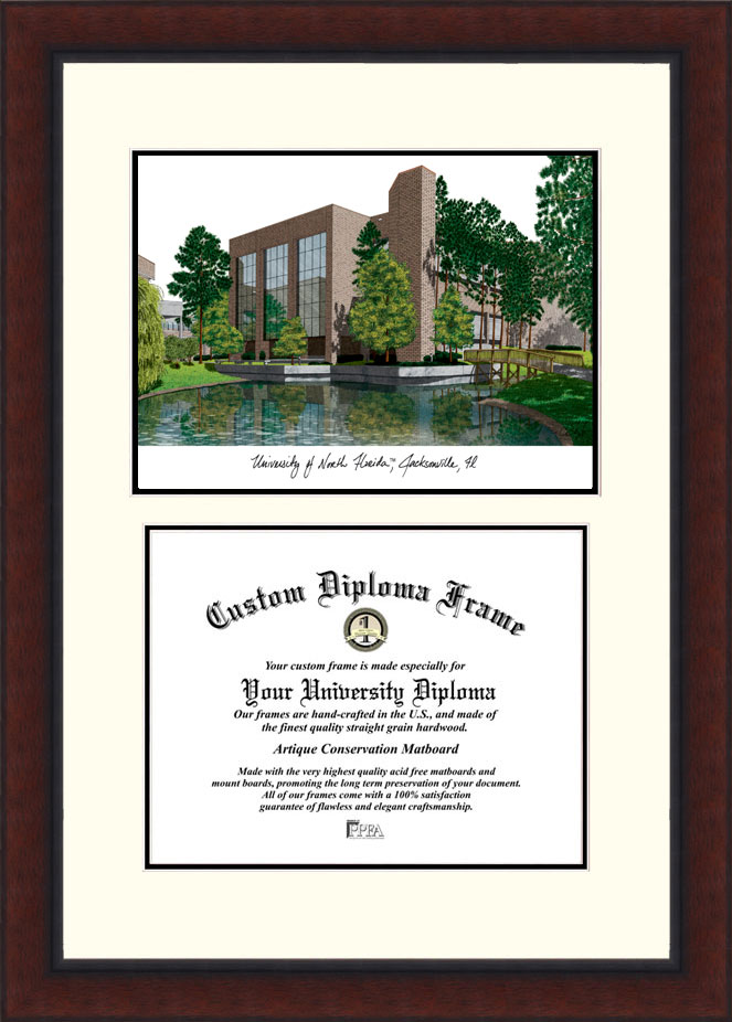 University of North Florida Legacy  Scholar Diploma Frame