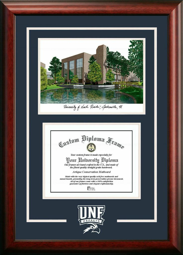 University of North Florida Spirit Graduate Frame with Campus Image