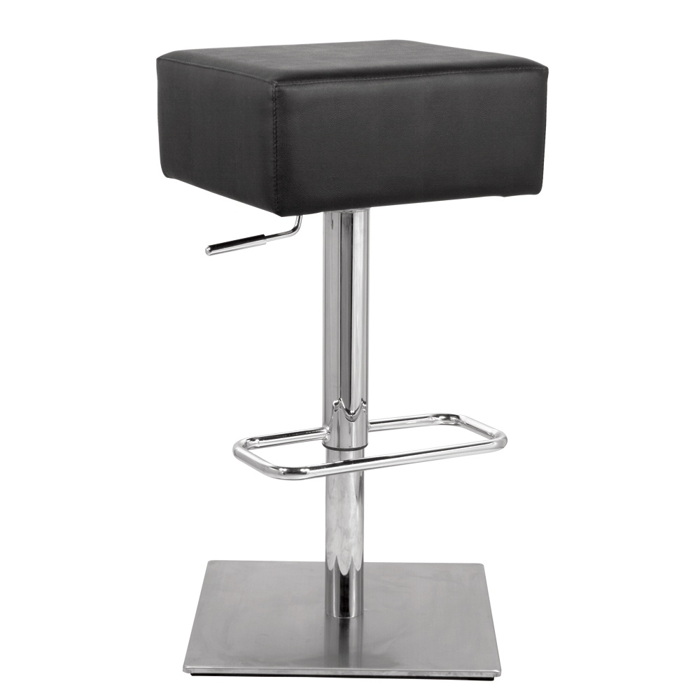 Fine Mod Imports  Marshmallow Bar Stool, Black