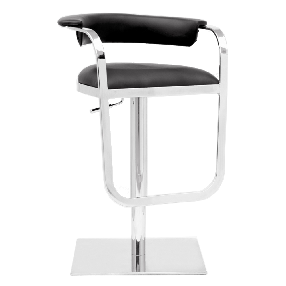 Fine Mod Imports  Barb Bar Stool, Black