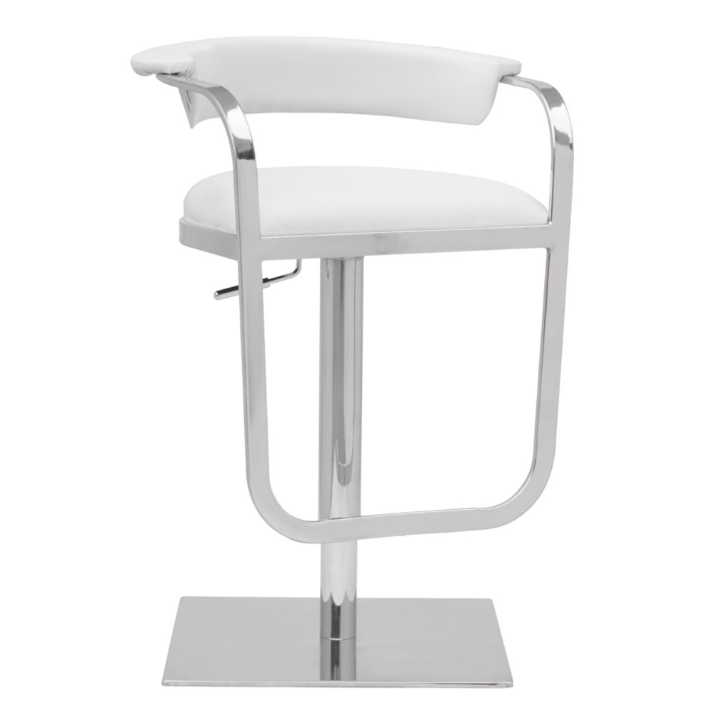 Fine Mod Imports  Barb Bar Stool, White
