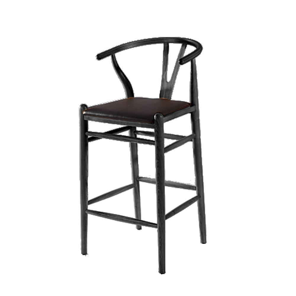 Fine Mod Imports  Woodstring Bar Stool Chair, Black