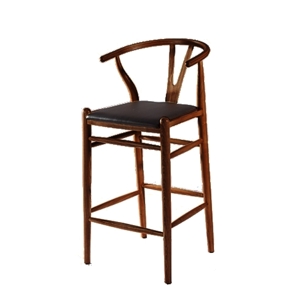 Fine Mod Imports  Woodstring Bar Stool Chair, Walnut