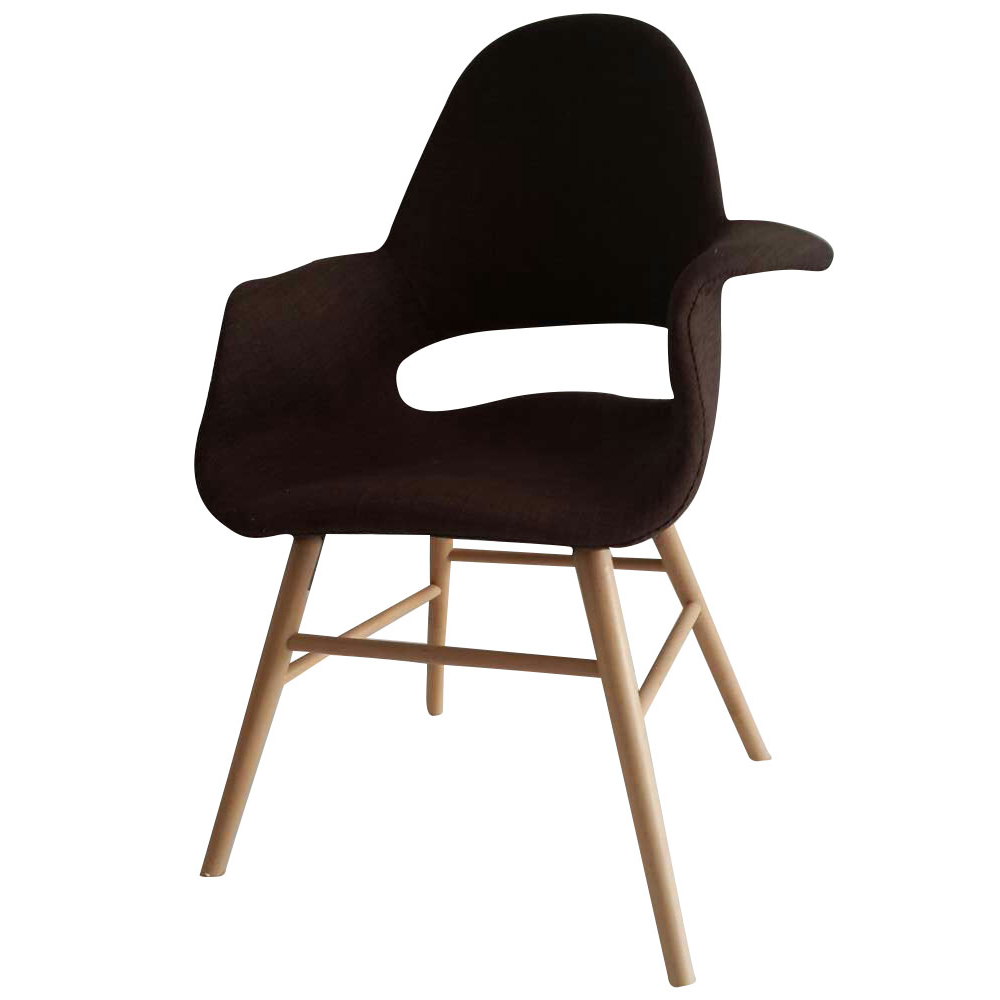 Fine Mod Imports Eero Dining Chair, Brown