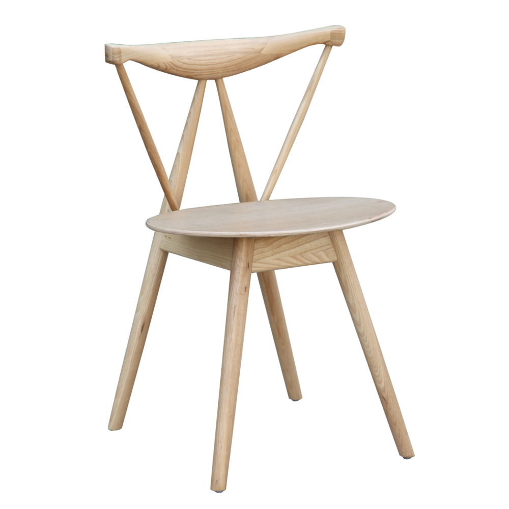 Fine Mod Imports  Fronter Dining Chair, Natural