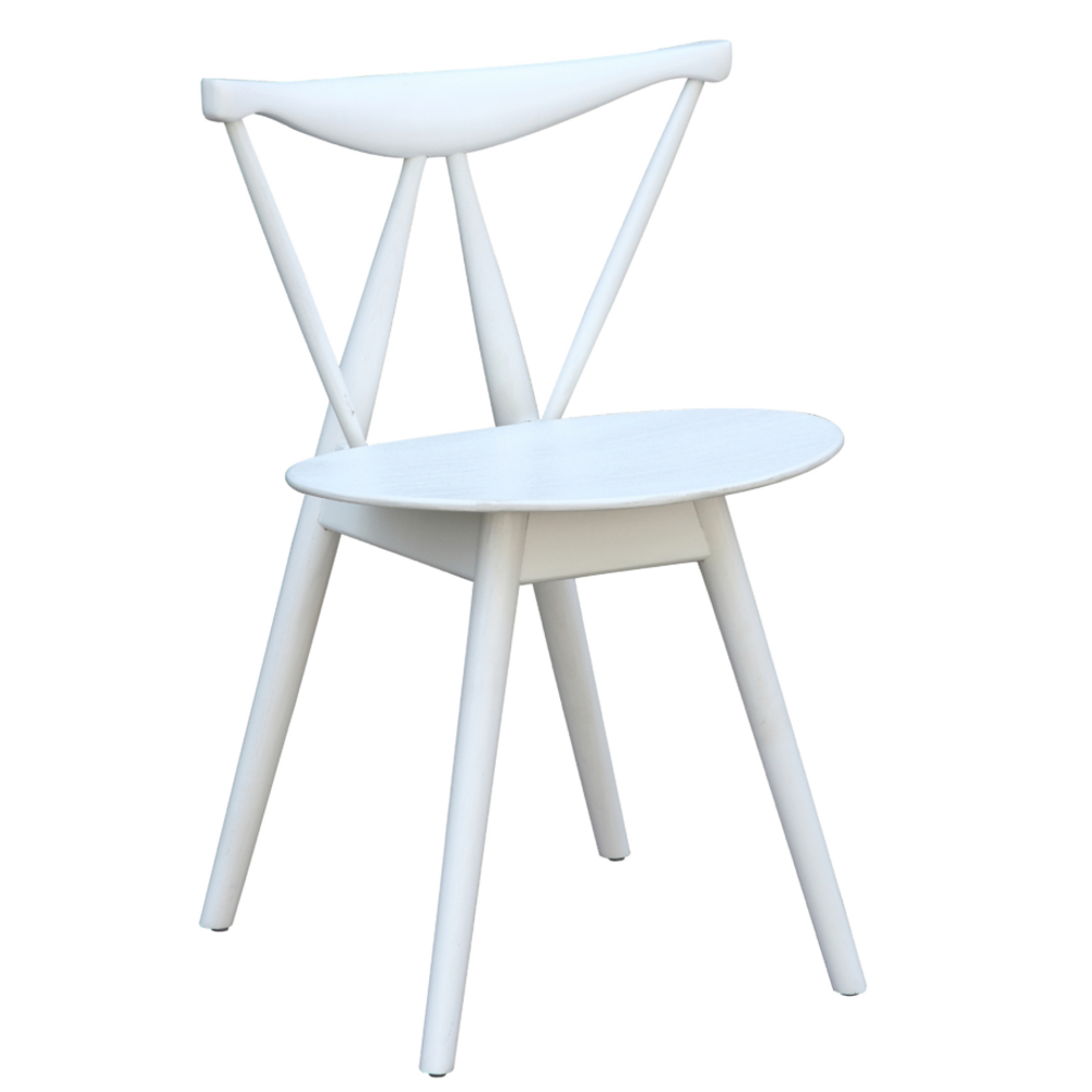 Fine Mod Imports  Fronter Dining Chair, White