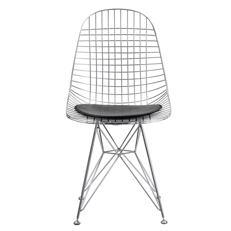 Fine Mod Imports  Eiffel Dining Chair, Black