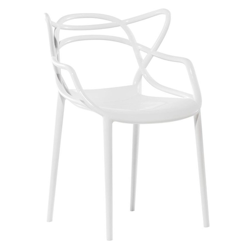 Fine Mod Imports  Brand Name Dining Chair, White