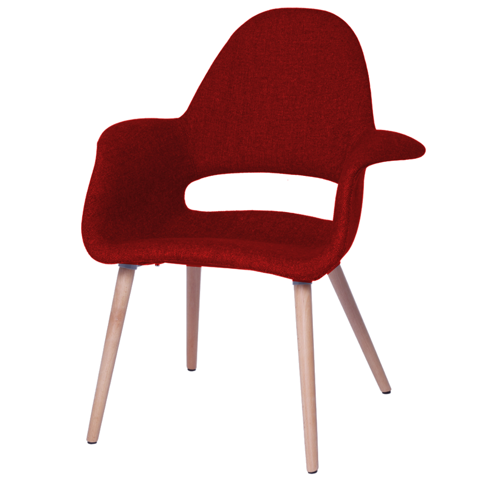 Fine Mod Imports Forza Dining Chair, Red
