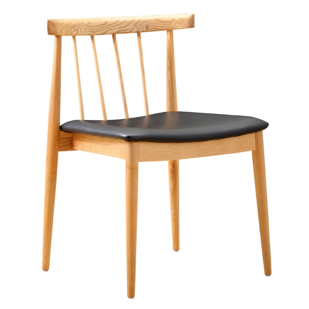 Fine Mod Imports Thin Dining Side Chair, Black