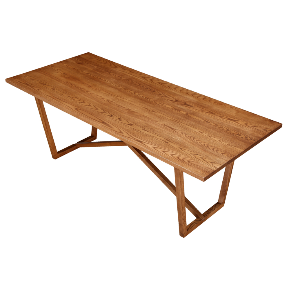 Fine Mod Imports Tricolor Dining Table, Walnut