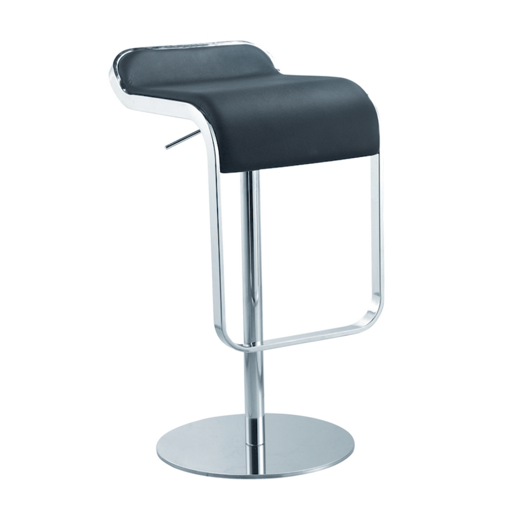 Fine Mod Imports  Lem Bar Stool Chair, Black