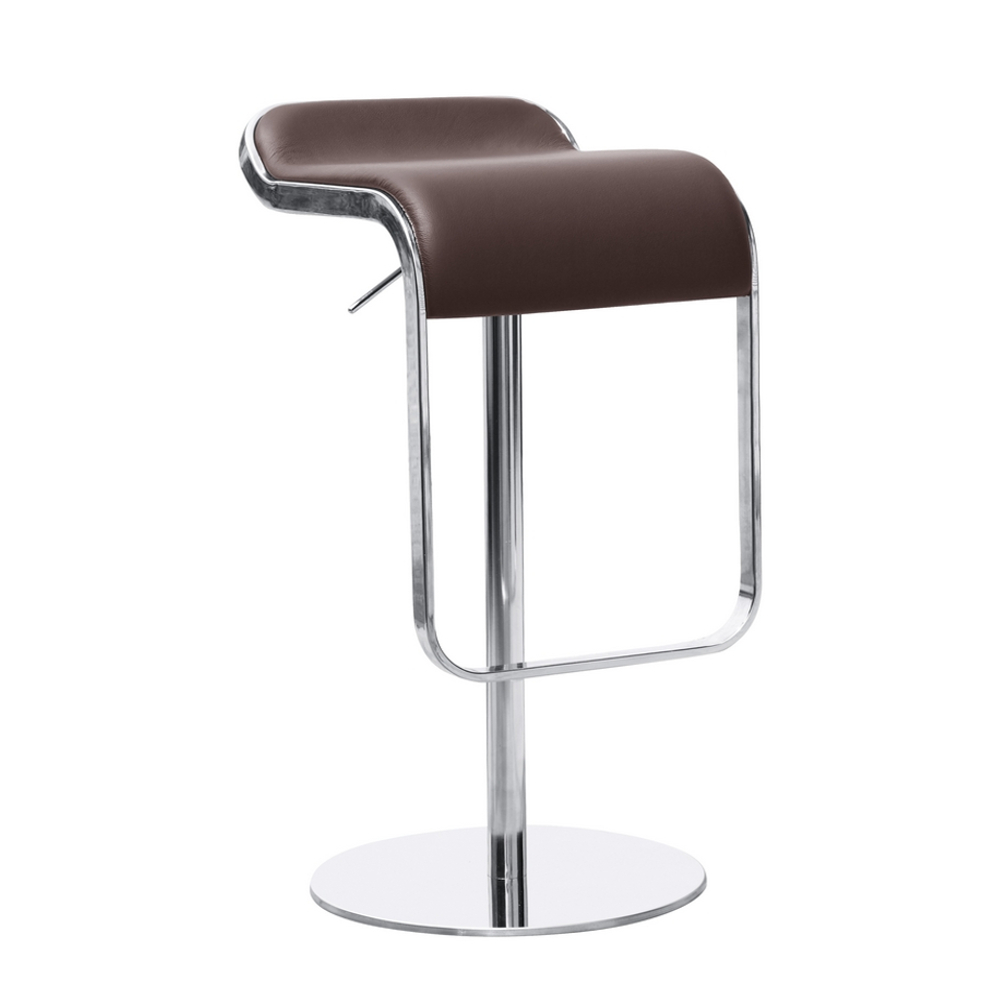 Fine Mod Imports  Lem Bar Stool Chair, Brown