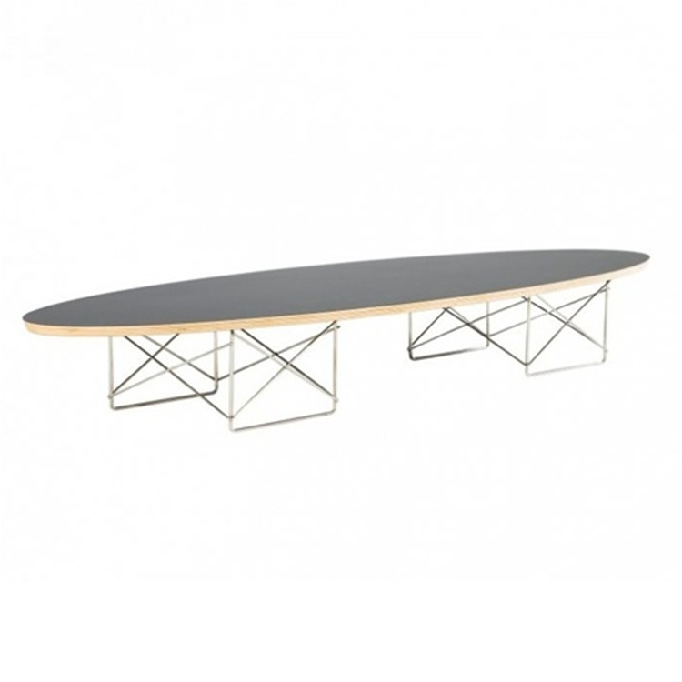 Fine Mod Imports  Wire Wood Coffee Table, Clear