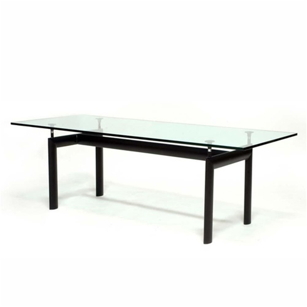 Fine Mod Imports  Square Dining Table, Clear