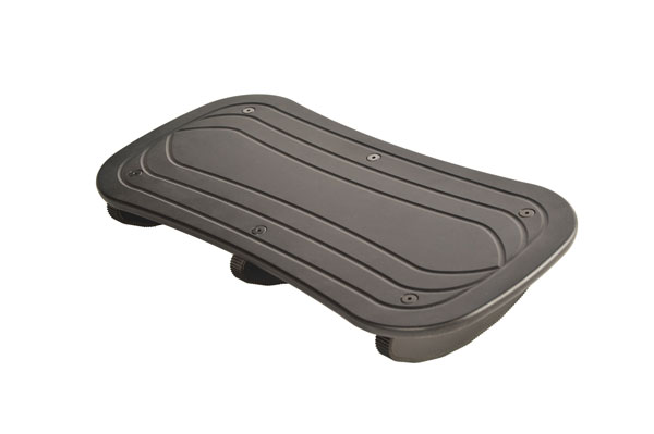 "Sunway FR6000BDW 3"" Rock N Stop Footrest - Black - Double Wide - FR6000BDW"