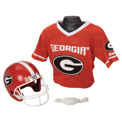 Georgia Bulldogs Youth NCAA Helmet and Jersey Set