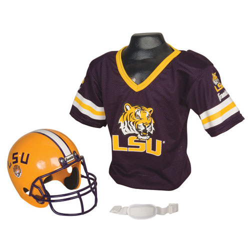 LSU Tigers Youth NCAA Helmet and Jersey Set