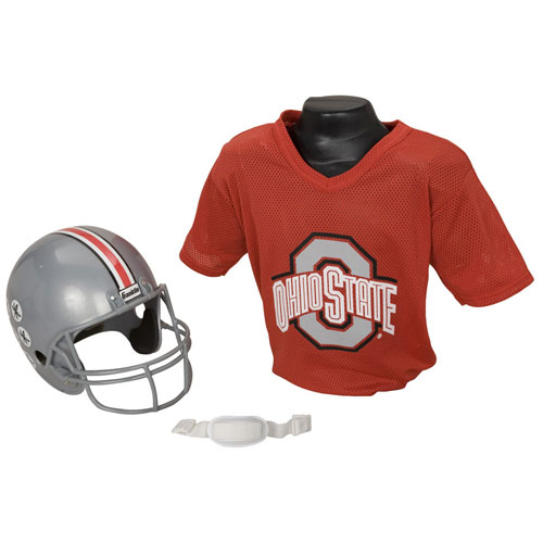 Ohio State Buckeyes Youth NCAA Helmet and Jersey Set