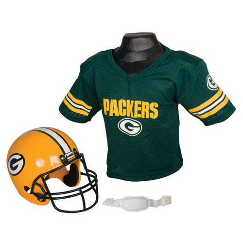 Green Bay Packers Youth NFL Helmet and Jersey Set