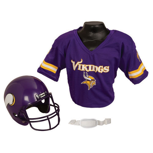 Minnesota Vikings Youth NFL Helmet and Jersey Set