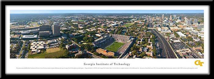 Georgia Institute of Technology Framed Stadium Print