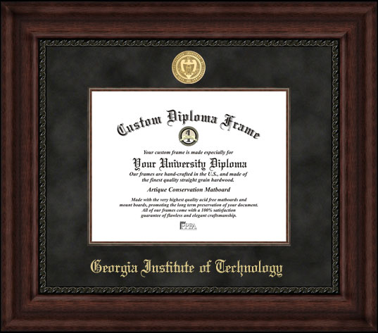 Georgia Institute of Technology  Executive Diploma Frame
