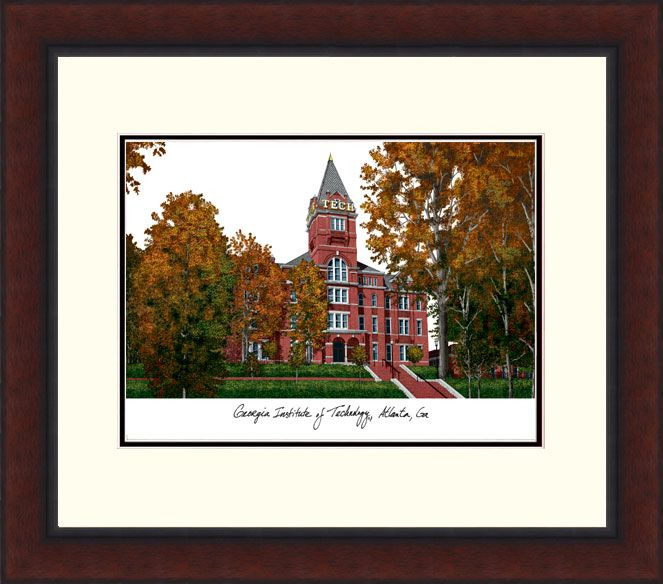 Georgia Institute of Technology Legacy Alumnus Framed Lithograph