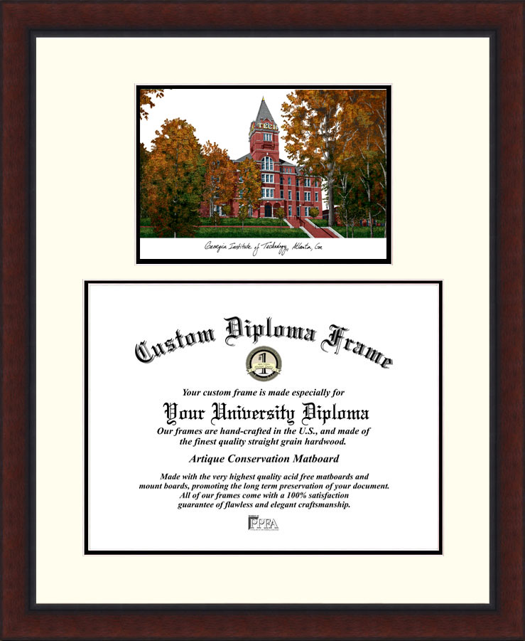 Georgia Institute of Technology  Legacy Scholar Diploma Frame