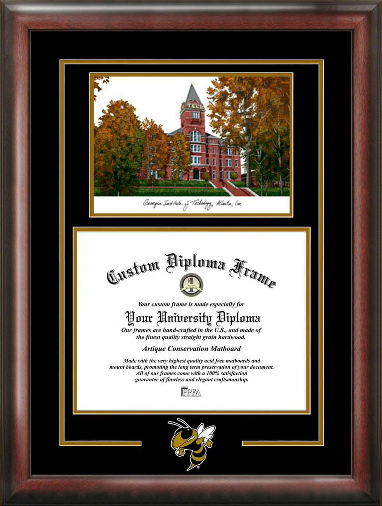 Georgia Institute of Technology  Spirit Graduate Frame with Campus Image