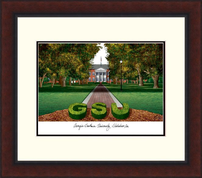 Georgia Southern Legacy Alumnus Framed Lithograph