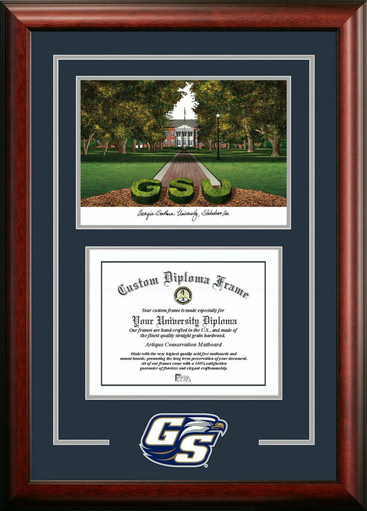 Georgia Southern Spirit Graduate Frame with Campus Image